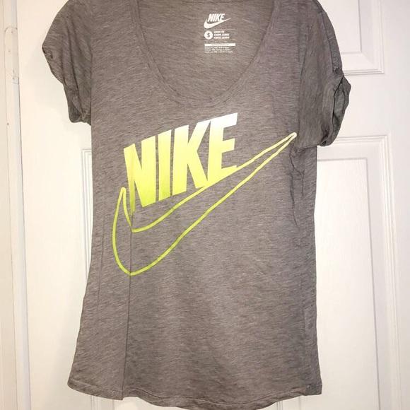 Nike Tops | Gray And Yellow Tshirt